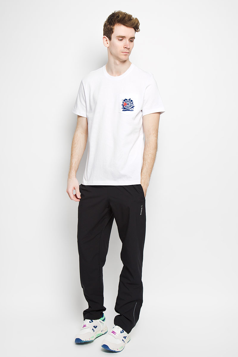 цены на Футболка мужская  Reebok F Pocket Tee, цвет: белый. AK0510. Размер XL (56/58) в интернет-магазинах