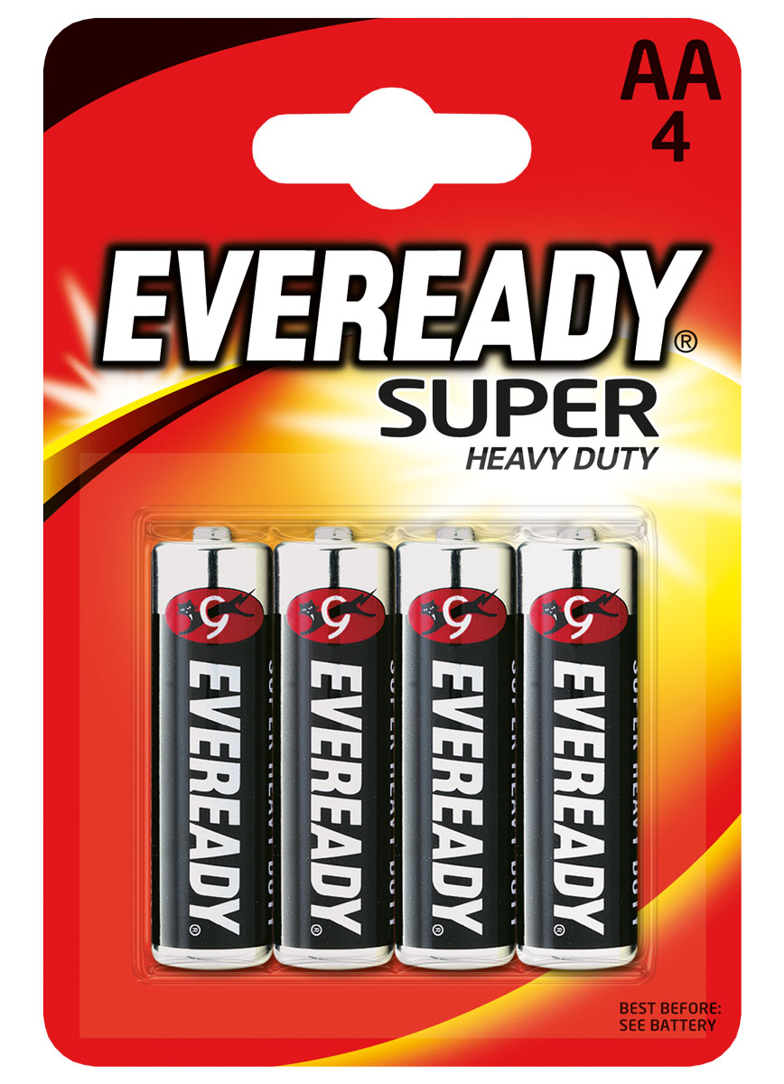 "Батарейка Eveready ""Super"", тип AA, 1,5V, 4 шт"
