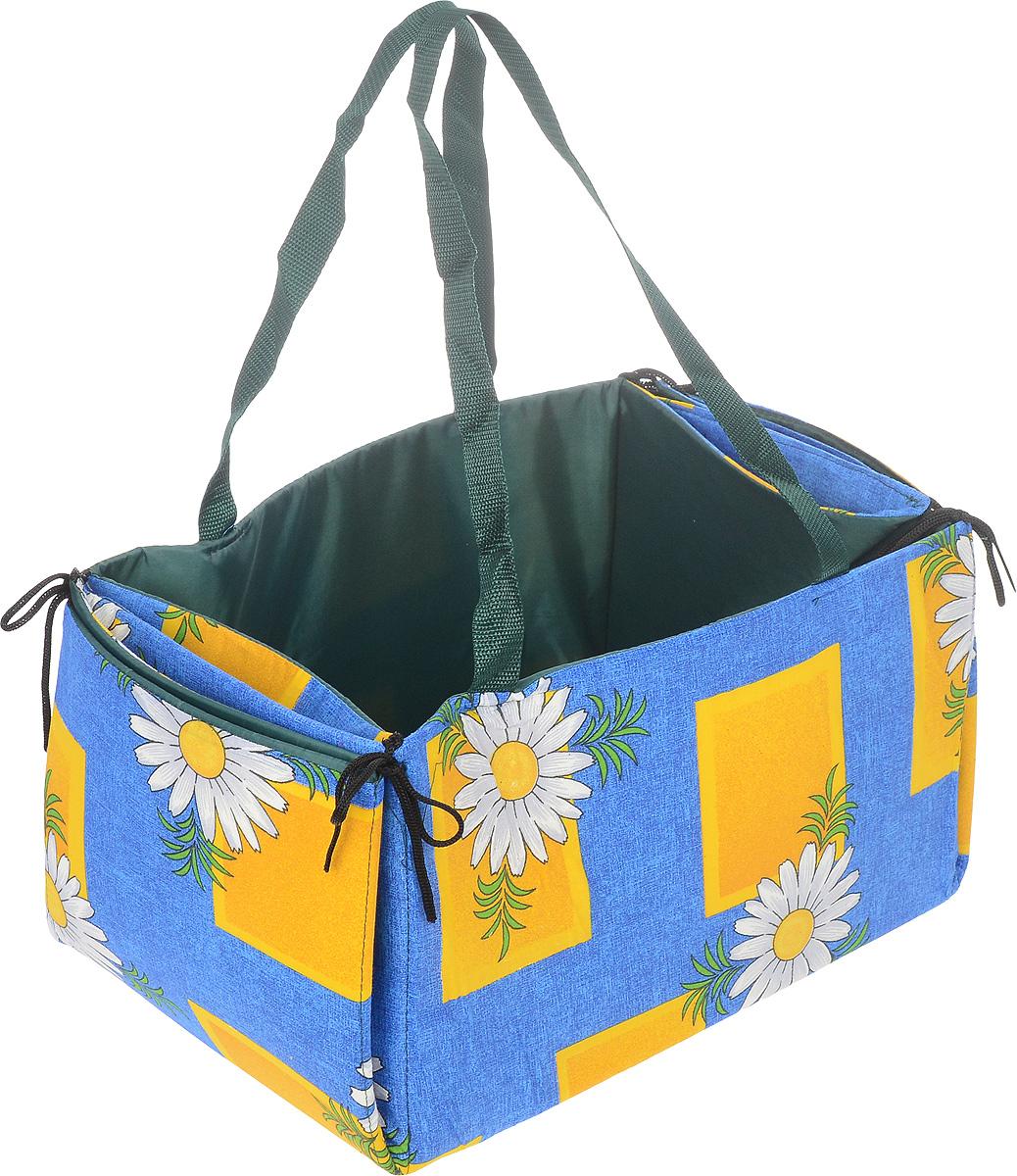 "Коврик для пикника Eva ""Лукошко"", цвет: синий, желтый, 70 х 87 см"