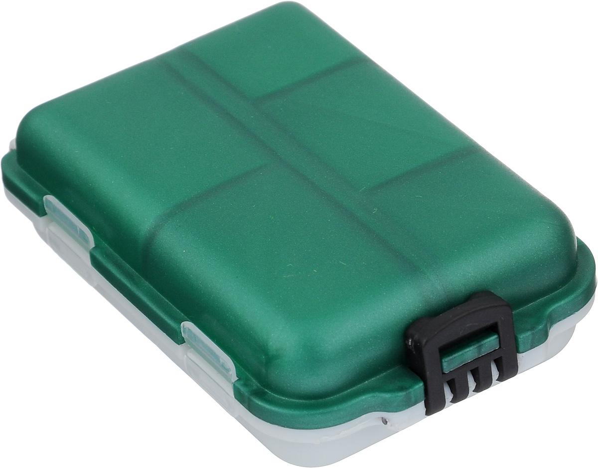 Органайзер для мелочей,, двухсторонний, цвет: зеленый, светло-серый, 9,5 х 6 х 2,5 см
