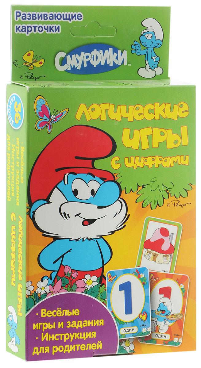 The Smurfs Обучающие карточки Логические игры с цифрами юлия шигарова азбука животных блокнот с играми и заданиями