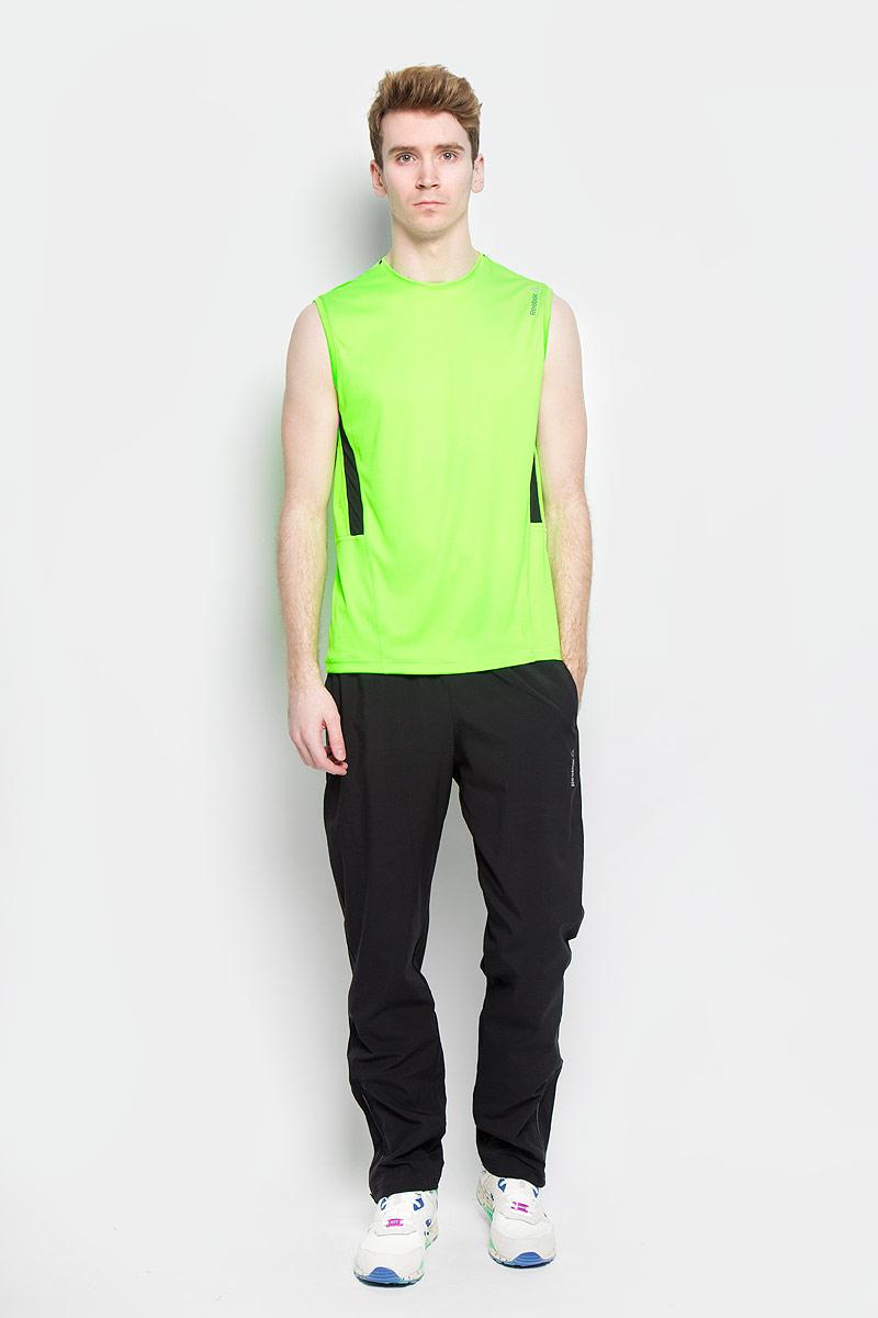 Майка мужская Reebok Wor SL Tech Top, цвет: неоновый салатовый. AJ2883. Размер M (48/50)