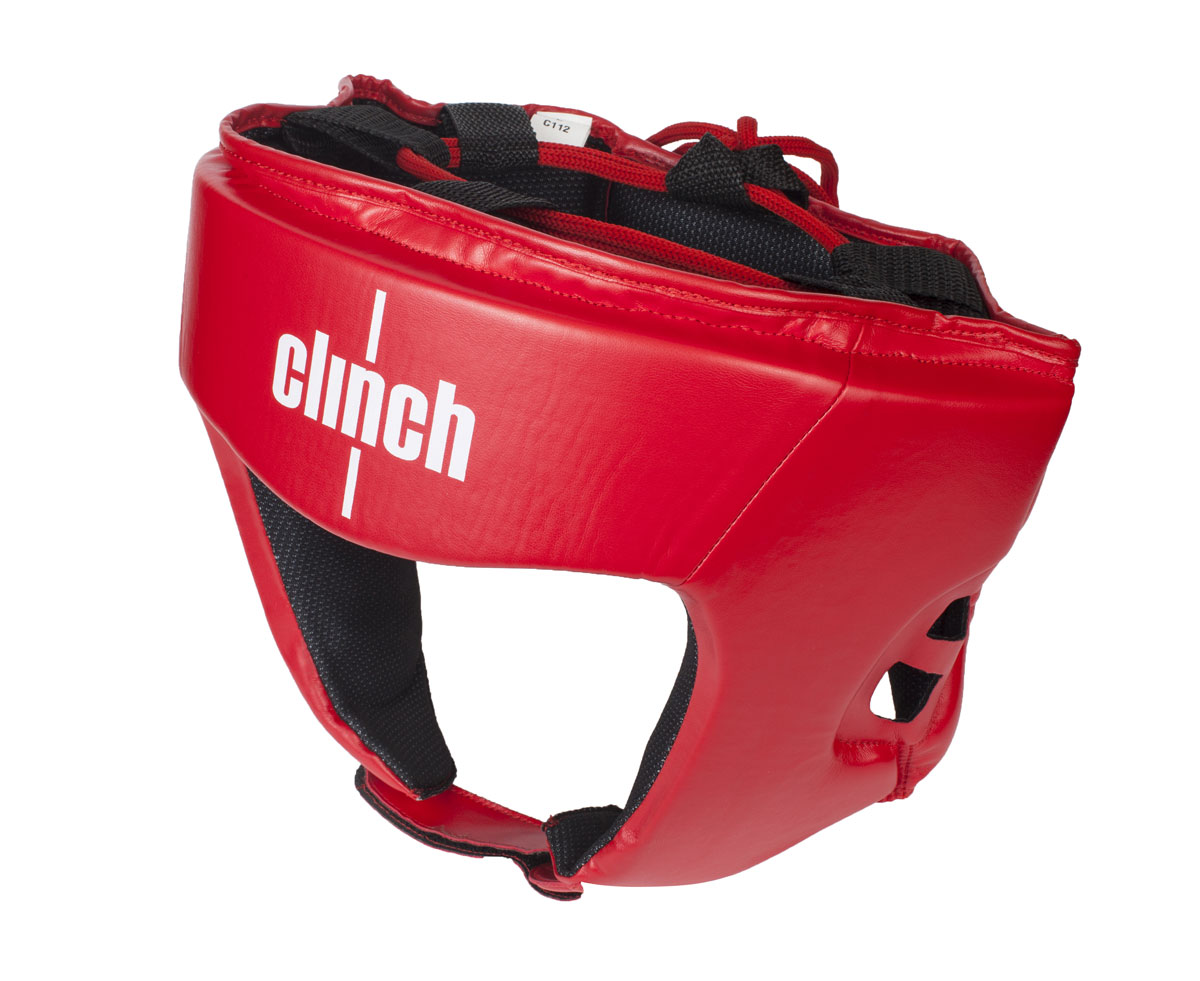 Шлем боксерский Clinch Olimp, цвет: красный. Размер: L (58-62 см)C112Боксерский шлем Clinch Olimp - официальный лицензионный боксерский шлем Федерацией Бокса России. Шлем изготовлен из высококачественного эластичного полиуретана. Отводящий влагу современный материал, позволяет получить максимальный комфорт, регулировка с помощью липучек и шнуровки плотную фиксацию и обзор. Имеют голографическую наклейку Федерации Бокса России.