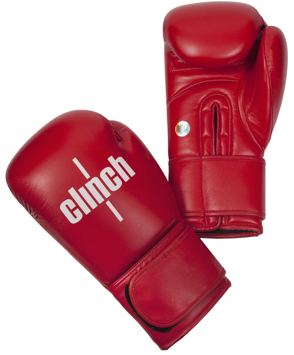 Перчатки боксерские Clinch Olimp, цвет: красный, 10 унций. C111C111Официальные лицензионные боксерские перчатки Федерацией Бокса России. Изготовлены из высококачественного эластичного полиуретана. Широкая манжета на липучке. Имеют голографическую наклейку Федерации Бокса России.