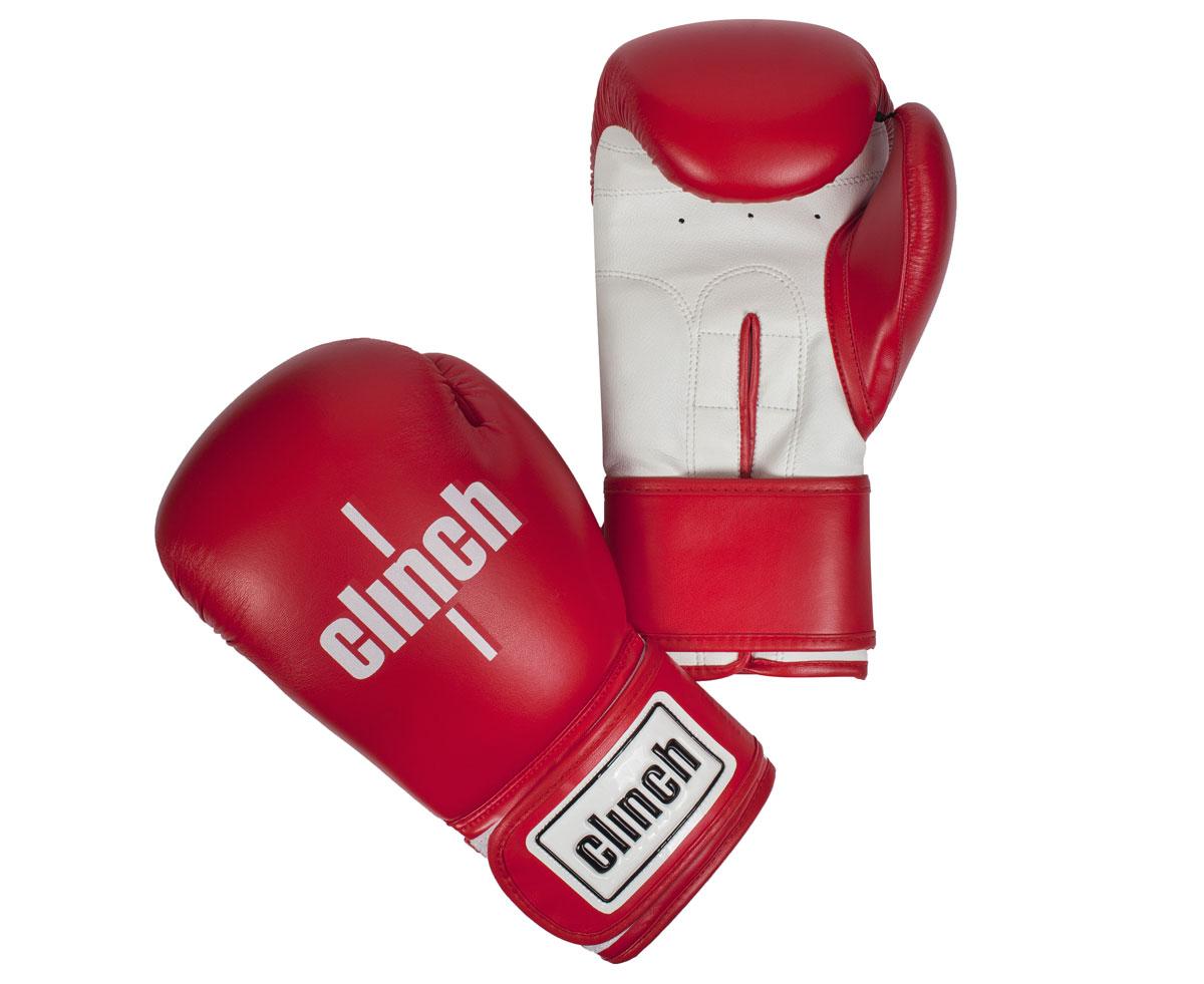 Перчатки боксерские Clinch Fight, цвет: красный, белый, 10 унций. C133C133Боксерские перчатки Fight изготовлены эластичного полиуретана Flex PU. Многослойный пенный наполнитель. Широкая манжета из искусственной кожи на липучке велкро.