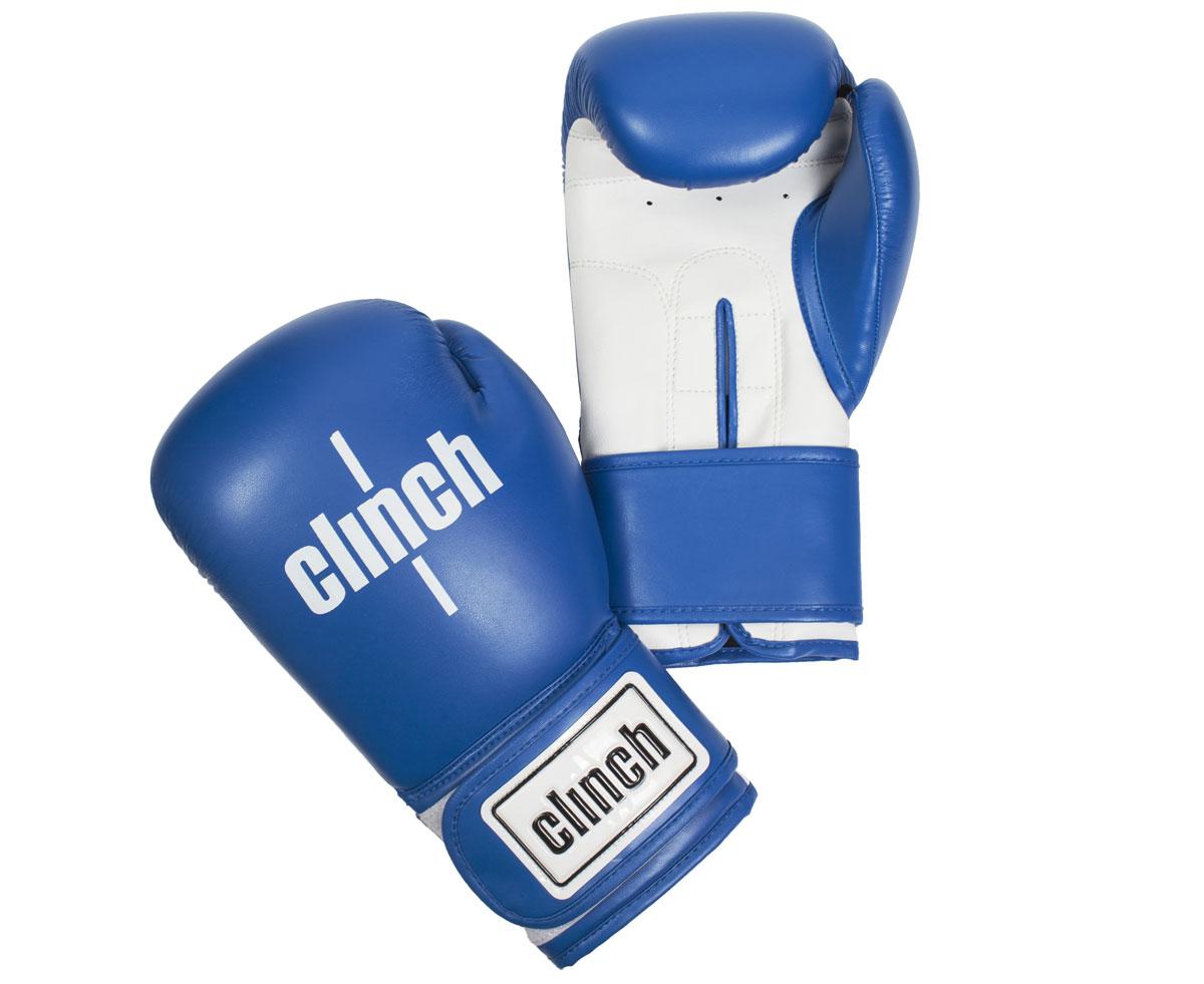 Перчатки боксерские Clinch Fight, цвет: синий, белый, 10 унций. C133 перчатки боксерские green hill dove цвет синий белый вес 10 унций bgd 2050