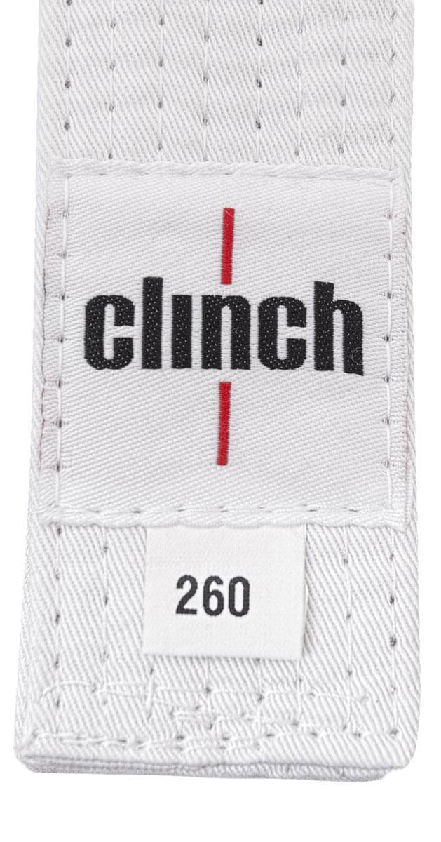 Пояс для единоборств Clinch Budo Belt, цвет: белый, 260 смC303Пояс универсальный для единоборств Budo Belt. 100% хлопок, стойкое окрашивание, простроченный -8 строчек. Ширина 4,5 см, жесткий.