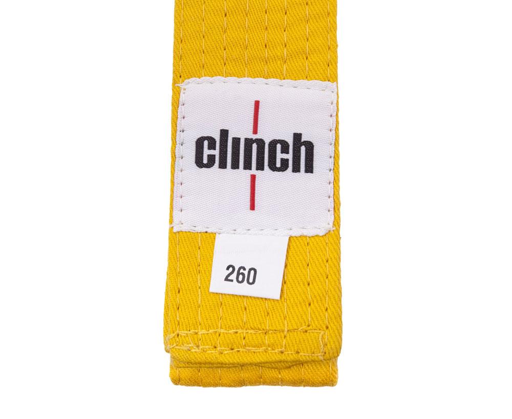 Пояс для единоборств Clinch Budo Belt, цвет: желтый, 260 смC303Пояс универсальный для единоборств Budo Belt изготовлен из натурального хлопка. Пояс имеет стойкое окрашивание, простроченный - 8 строчек. Ширина 4,5 см, жесткий.