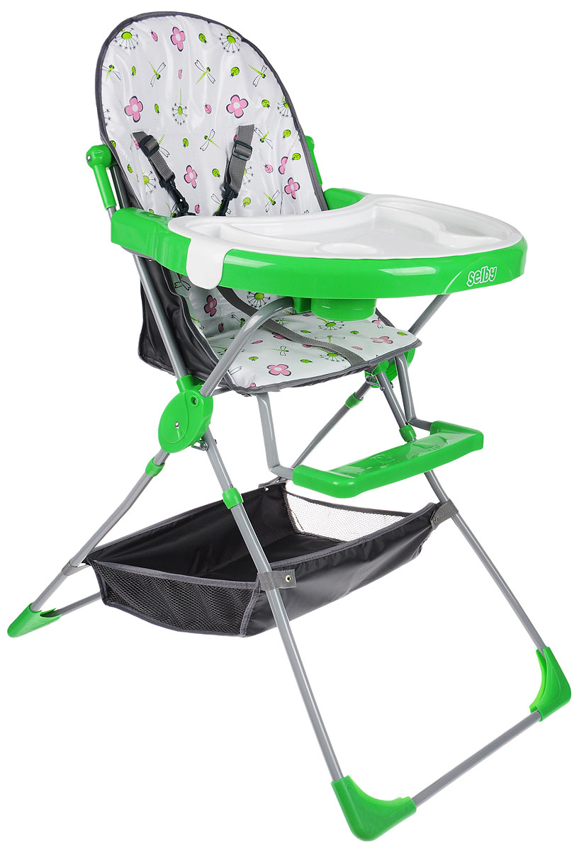 Selby Стульчик для кормления 252 цвет зеленый selby стульчик для кормления цвет белый зеленый 827378