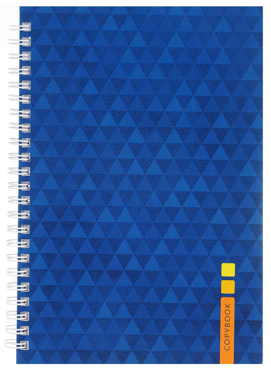 Listoff Тетрадь Синий орнамент 100 листов в клеткуТС51004247Тетрадь Listoff Синий орнамент подойдет как школьнику, так и студенту. Обложка тетради выполнена из прочного картона и оформлена синим треугольным орнаментом.Внутренний блок тетради на гребне состоит из 100 листов белой бумаги с линовкой в клетку фиолетового цвета без полей.