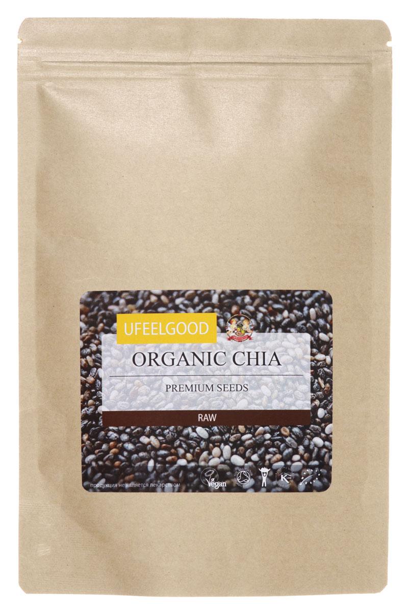 UFEELGOOD Organic Chia Premium Seeds органические семена чиа, 200 г ufeelgood organic flax golden seeds органические семена золотого льна 150 г