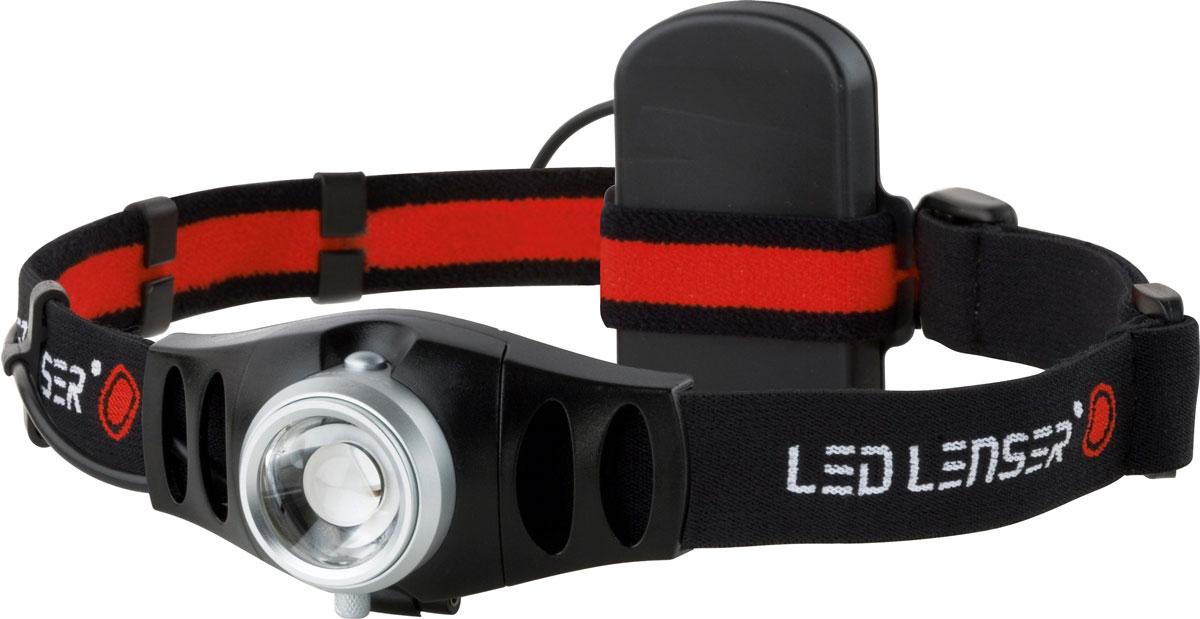 Налобный фонарь LED Lenser H5. 74957495Налобный фонарь LED Lenser H5 предназначен для локального освещения предметов. Он чрезвычайно высокопроизводителен, удобен и крепок. Корпус фонаря выполнен из прочного алюминиевого сплава, имеет высокую степень пылебрызгозащиты, не восприимчив к транспортной вибрации. Фонарь удобно надевать благодаря регулируемому и эластичному головному ремню, который обеспечивает стабильность положения и освобождает руки и имеет 4 рабочих положения наклона осветительной головки. Может использоваться на природе, как источник света, идеален для туристов, рыбаков, велосипедистов, автомобилистов, а также для дачников и любителей прогулок на природе.Фонарь имеет позолоченные контакты, благодаря чему они не окислятся даже в морском соляном тумане при высоких температурах. Также фонарь оснащен системой AFS (изменяемая фокусировка одним движением руки), благодаря которой Вы сможете освещать предметы, как на большом расстоянии, так и вблизи. Светодиоды имеют ресурс более 100 000 часов непрерывной работы. Они устойчивы к ударам и не перегорают, как лампы накаливания.В комплект с фонарем входит неопреновый чехол, который можно повесить на пояс. Характеристики:Материал:металл, текстиль, пластик, стекло. Размер корпуса фонаря: 7,5 см х 4 см х 3 см. Время свечения: 30 часов. Яркость: 26 лн. Дальность освещения: до 50 м. Количество светодиодов: 1 шт. Производитель: Германия. Артикул: 7869.Работает от 3 батареек ААА (входят в комплект).Производителем фонарей LED Lenser является концерн Zweibruder Optoelectronics GmbH (Цвайбрюдер Оптоэлектроникс), Germany. Концерн включает в себя: инженерно-конструкторское бюро, где проводятся разработки и испытания фонарей,производственную базу, силами которой осуществляется изготовление. Производство имеет международный сертификат ISO 9001:2000, подтверждающий стабильный уровень качества выпускаемой продукции. В фонарях LED Lenserвпервые применена революционная оптическая схема, состоящая из источника света - светодиода, ре