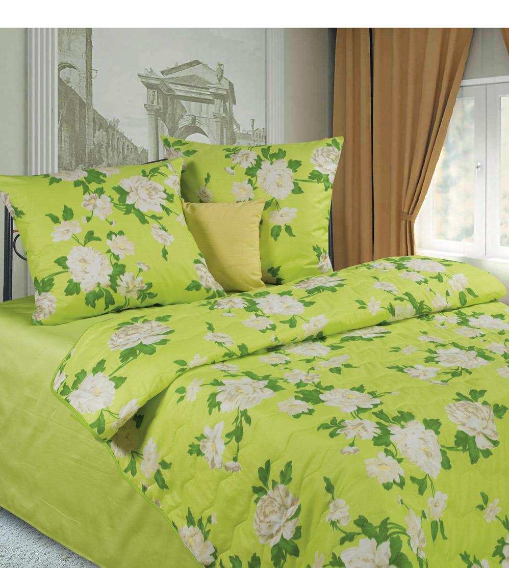 Комплект белья P&W Иветта, 1,5-спальный, наволочки 70x70, цвет: белый, желтый, зеленый diana p w постельное белье отзывы