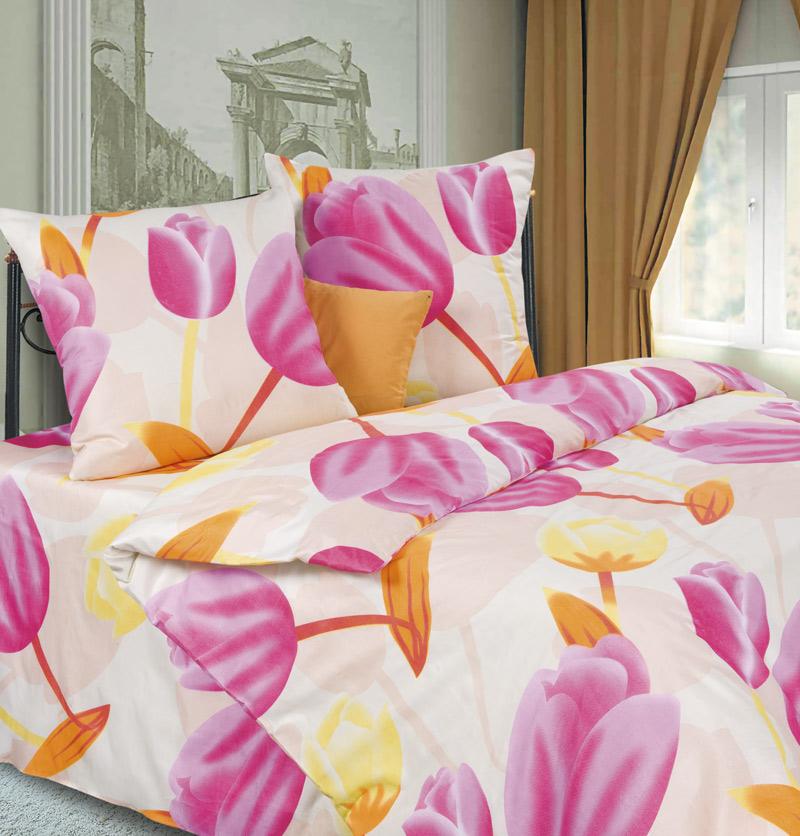 Комплект белья P&W Тюльпаны, 2-спальный, наволочки 69х69, цвет: молочный, желтый, розовыйPW-63-173-175-69Комплект постельного белья P&W Тюльпаны выполнен из микрофибры. Комплект состоит из пододеяльника, простыни и двух наволочек. Постельное белье оформлено изысканным рисунком.Ткань приятная на ощупь, мягкая и нежная, при этом она прочная и хорошо сохраняет форму, легко гладится. Ткань микрофибра - новая технология в производстве постельного белья. Тонкие волокна, используемые в ткани, производят путем переработки полиамида и полиэстера. Такая нить не впитывает влагу, как хлопок, а пропускает ее через себя, и влага быстро испаряется. Изделие не деформируется и хорошо держит форму. Благодаря такому комплекту постельного белья, вы сможете создать атмосферу роскоши и романтики в вашей спальне.