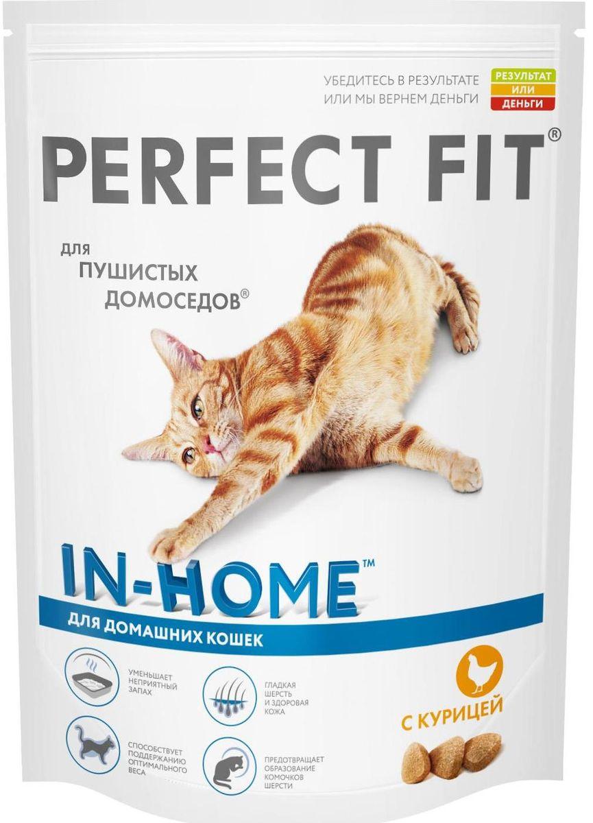 Корм сухой Perfect Fit In-Home для домашних кошек, с курицей, 190 г корм для кошек perfect fit купить