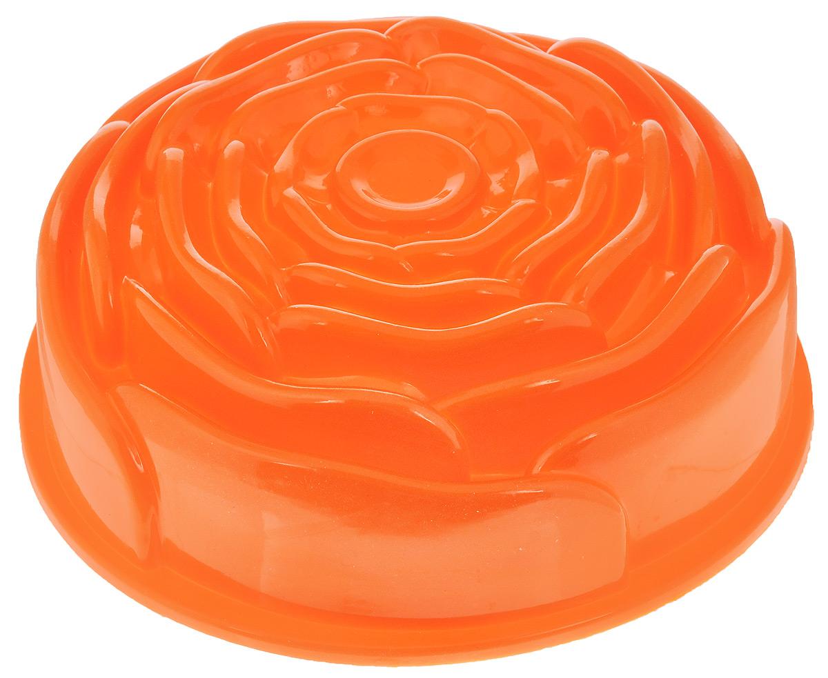 Форма для выпечки Mayer & Boch Роза, силиконовая, цвет: оранжевый, диаметр 23 см21976_оранжевыйФорма для выпечки Mayer & Boch Роза, изготовленная из высококачественного силикона, выполнена в виде бутона розочки. Стенки формы легко гнутся, что позволяет легко достать готовую выпечку и сохранить аккуратный внешний вид блюда.Силикон - материал, который выдерживает температуру от -40°С до +230°С. Изделия из силикона очень удобны виспользовании: пища в них не пригорает и не прилипает к стенкам, форма легко моется. Приготовленное блюдоможно очень просто вытащить, просто перевернув форму, при этом внешний вид блюда не нарушится. Изделиеобладает эластичными свойствами: складывается без изломов, восстанавливает свою первоначальную форму.Порадуйте своих родных и близких любимой выпечкой в необычном исполнении. Подходит для приготовления в микроволновой печи и духовом шкафу при нагревании до +230°С; длязамораживания до -40°.Внутренний размер формы: 21 х 21 х 8,5 см.