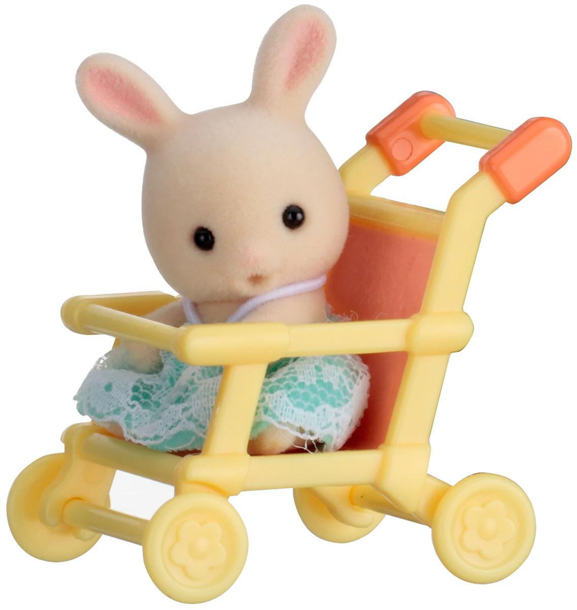 Sylvanian Families Фигурка Малыш кролик в коляске