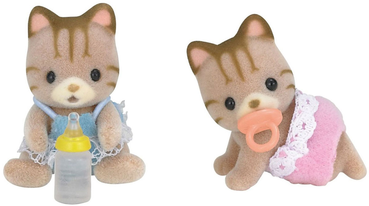 Sylvanian Families Набор фигурок Полосатые котята-двойняшки игровые наборы sylvanian families набор двойняшки в коляске
