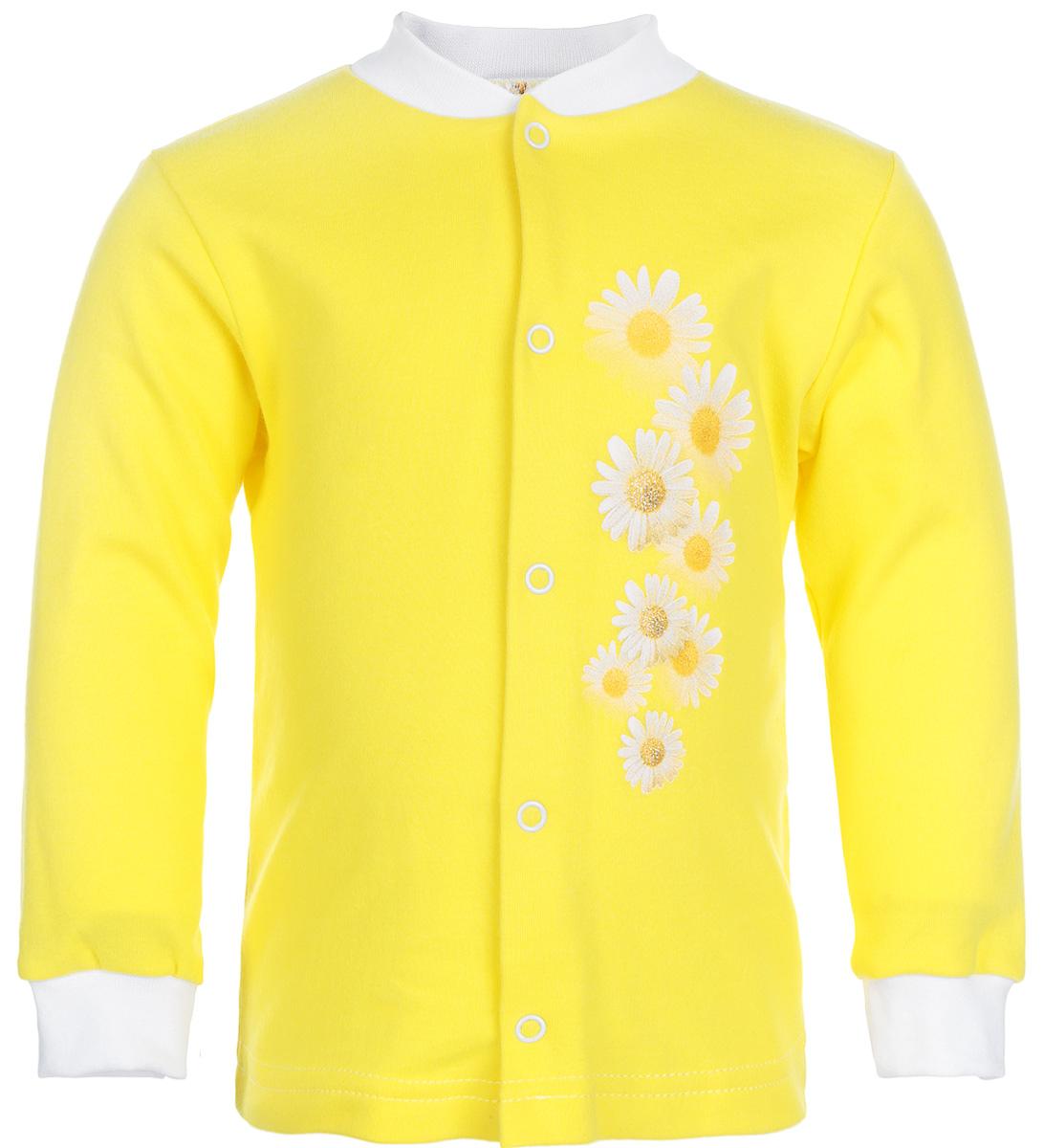 Кофточка для девочки КотМарКот, цвет: лимонный. 7162. Размер 68, 3-6 месяцев распашонка для девочки котмаркот дрим цвет розовый белый 4270 размер 68 3 6 месяцев