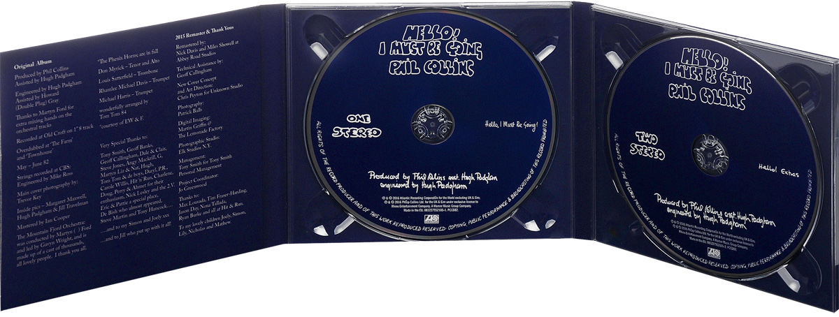 Phil Collins.  Hello, I Must Be Going.  Deluxe Edition (2 CD) Atlantic Recording Corporation,Warner Music