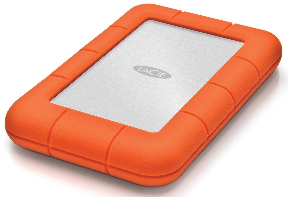 LaCie Rugged Mini 500GB внешний жесткий диск301556LaCie Rugged Mini - мобильный внешний жесткий диск, выполненный в форм-факторе 2,5 дюйма, привлекает внимание своим необычным видом. Резиновые манжеты выполняют не только декоративную, но и защитную функцию. Устройству не страшны не только царапины и удары, но и проливной дождь, а также сильнейшее давление. Разъем USB 3.0 гарантирует подключение к любому девайсу, оборудованному аналогичным портом.Более того, аппарат имеет полную обратную совместимость с USB 2.0. Поддерживается аппаратное шифрование AES.Скорость вращения шпинделя: 7200 об/минПадение с высоты 1,2 мДавление: 1000 кгСовместимые ОС: Windows 7, Windows 8 и выше / Mac OS X 10.5 и выше