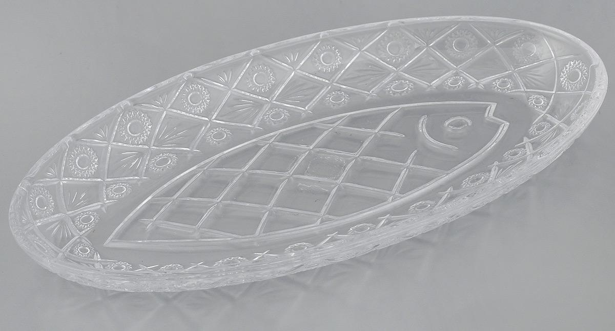 Селедочница Elan Gallery Классика, 25 х 12 х 2,5 см890062Селедочница Elan Gallery Классика изготовлена из прочного стекла, украшенного изысканным рельефом. Изделие имеет овальную форму, идеально подходит для сервировки селедки, нарезки, снеков. Такое блюдо станет замечательным украшением праздничного стола и подчеркнет ваш безупречный вкус. Изделие можно использовать в микроволновой печи. Легко моется вручную и в посудомоечной машине.