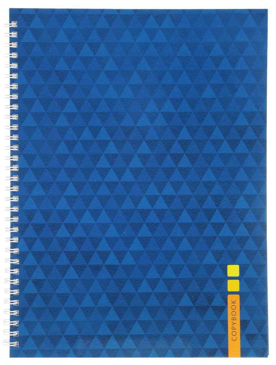 Listoff Тетрадь Синий орнамент 100 листов в клетку -  Тетради