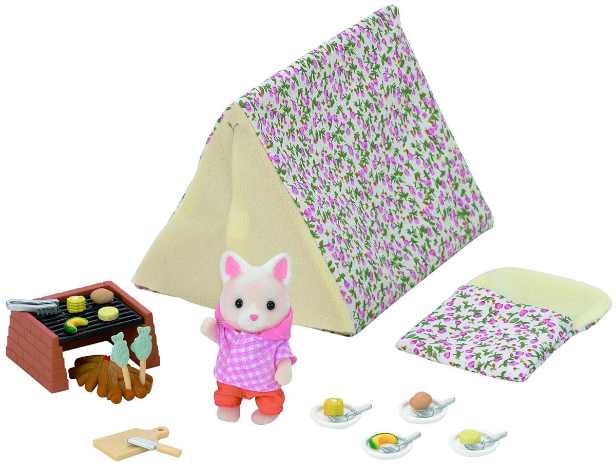 Sylvanian Families Игровой набор Кемпинг у моря набор холодильник с продуктами sylvanian families