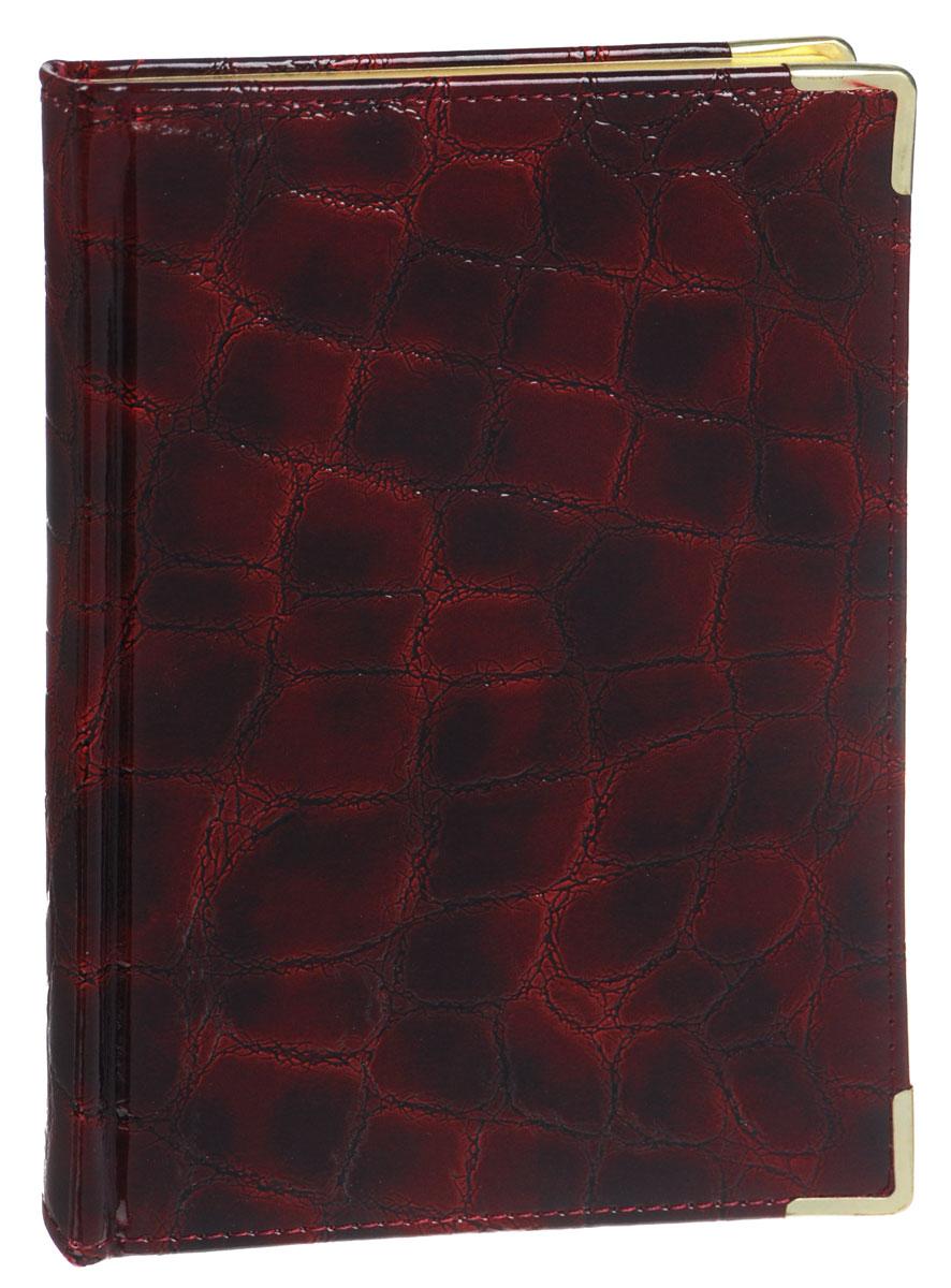 Listoff Книга для записей Grand Croco 120 листов в клетку цвет бордовыйКЗК51201659Стильная книга для записей - это дополнительный штрих к вашему имиджу. Опрятная и лаконичная книжка может быть использована не только для личных пометок и записей, но и как недатированный ежедневник.Обложка выполнена из высококачественной искусственной кожи, с прострочкой по периметру и поролоновой подкладкой. Металлические скругленные углы защищают книгу от повреждений при активном использовании. Форзацы золотого цвета и ляссе подчеркивают высокий статус изделия.Записная книжка Listoff станет достойным аксессуаром среди ваших канцелярских принадлежностей. Она пригодится как для деловых людей, так и для любителей записывать свои мысли, писать мемуары или делать наброски новых стихотворений.