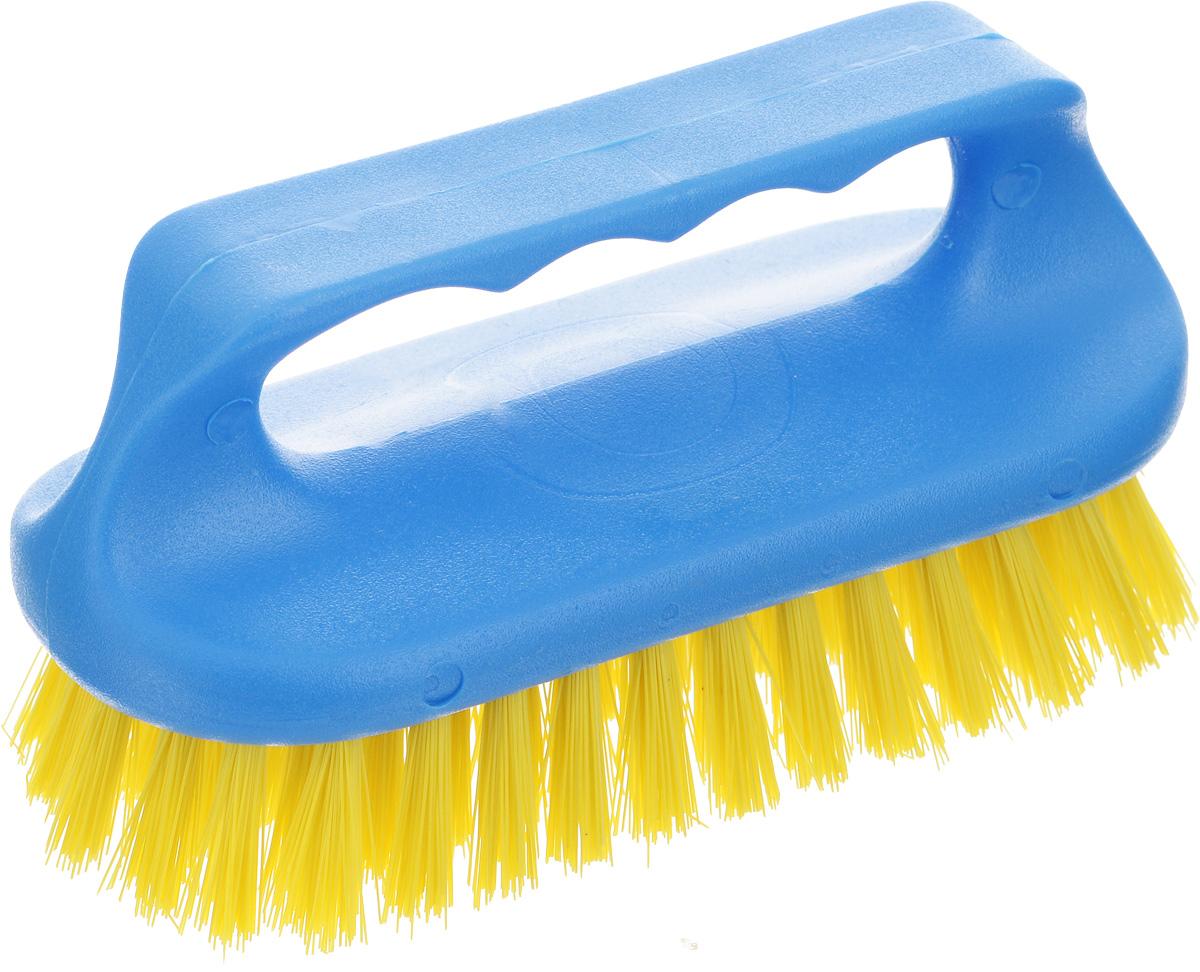 Щетка для ванны Хозяюшка Мила Сальвия, цвет: синий, желтый24006-96Щетка для ванны Хозяюшка Мила Сальвия, изготовленная из высокопрочного пластика, идеально подходит для снятия сильных загрязнений. Удобная ручка делает процесс чистки комфортным, а форма щетки позволяет хорошо чистить даже труднодоступные места. Щетина средней жесткости не повреждает поверхность. Длина щетины: 2,5 см.
