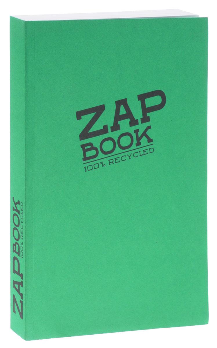 Clairefontaine Блокнот для эскизов Zap Book 160 листов цвет зеленый блокноты booratino деревянный блокнот а5
