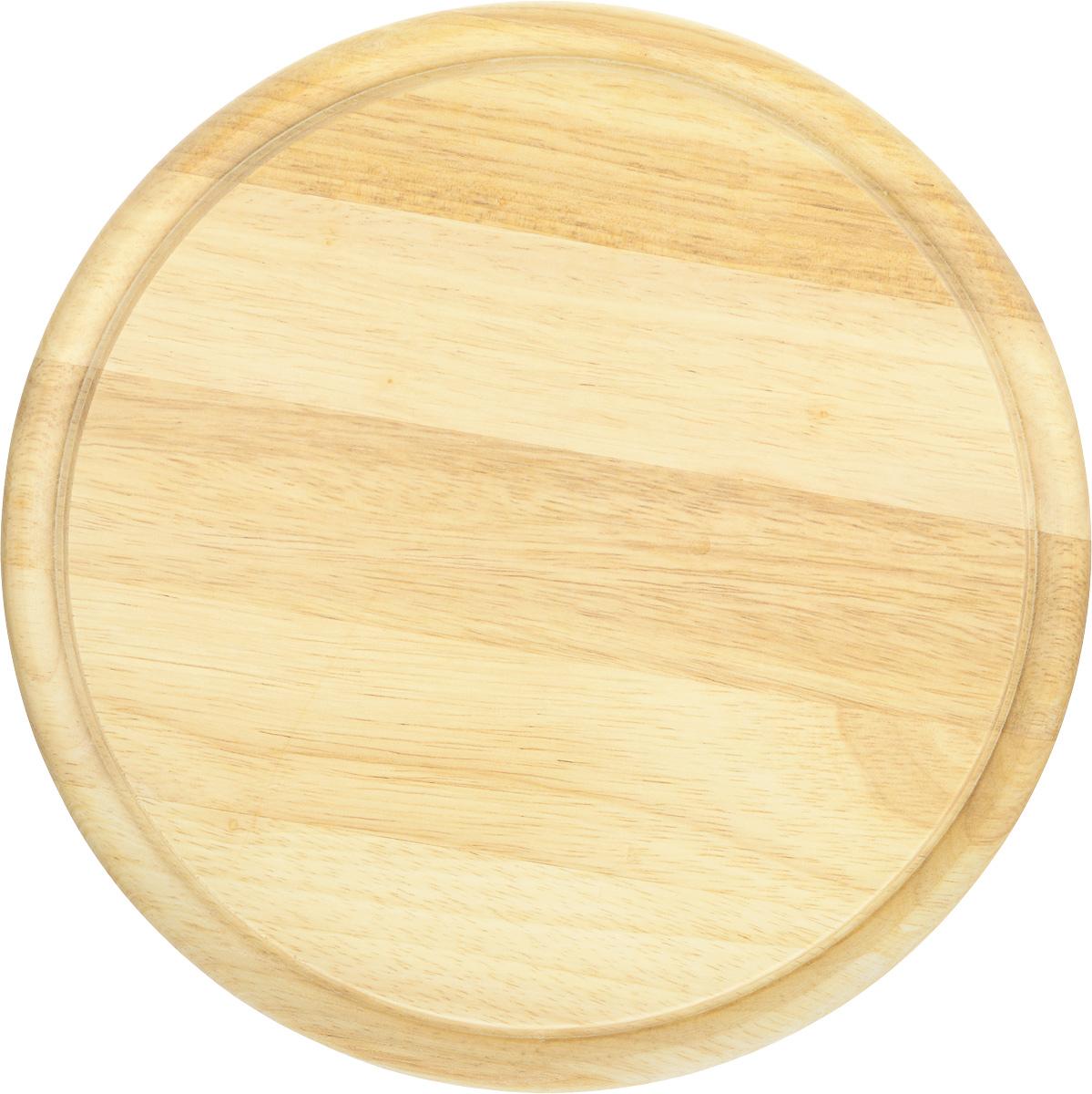Доска разделочная Kesper, диаметр 25 см6044-2Разделочная доска Kesper изготовлена из прочного высококачественного дерева. Изделие имеет круглую форму. Специальное покрытие предотвращает впитывание влаги, благодаря чему доска не рассыхается. Выемки по краю обеспечивают сток жидкости. Деревянные разделочные доски имеют массу преимуществ: они долговечны, не затупляют ножи, экологически чистые, безопасны для пищевых продуктов. Практичная и качественная доска станет неизменным помощником в приготовлении ваших любимых блюд.
