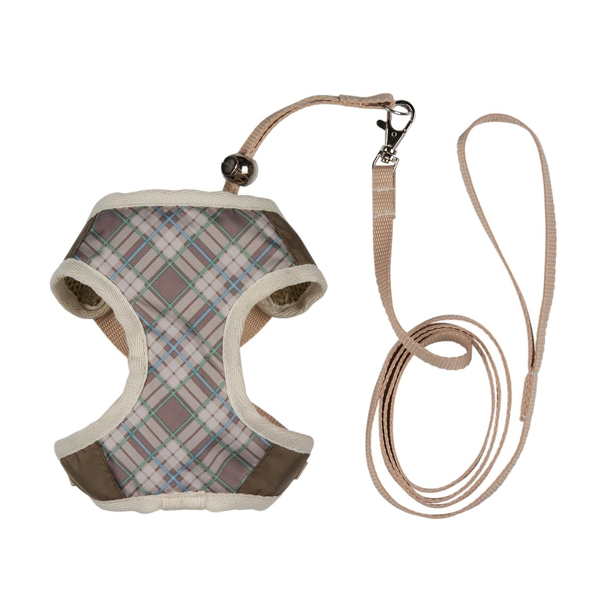 """Шлейка для собак Dogmoda """"Ватсон"""", с поводком, цвет: бежевый, светло-коричневый. Размер 4 (XL)"""