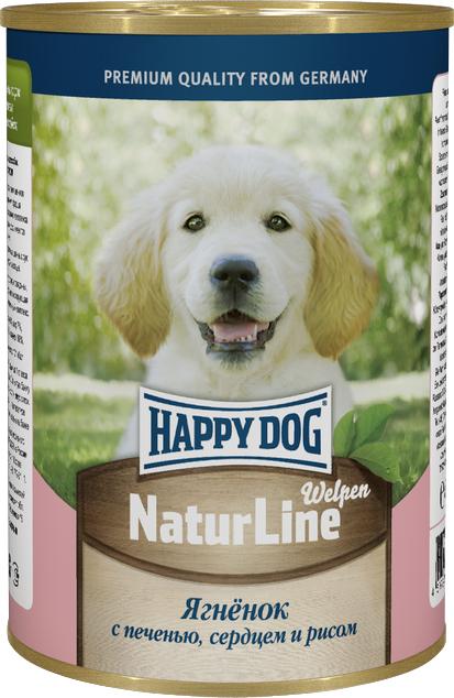 Консервы для собак Happy Dog Natur Line, ягненок с печенью, сердцем и рисом, 400 г набор для сухой уборки rival natur line цвет бежевый черный серый 3 предмета