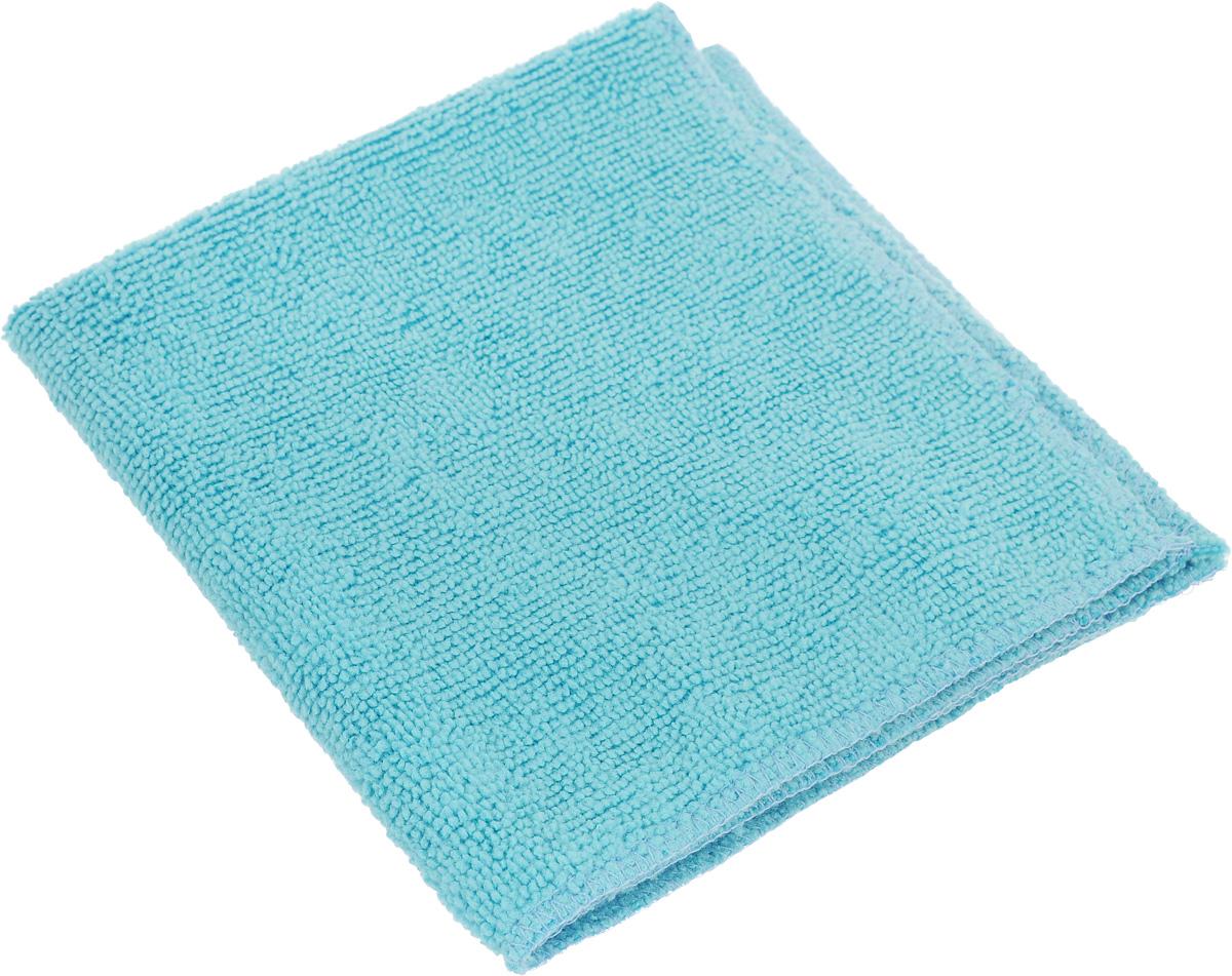 Салфетка для уборки Eva, цвет: голубой, 30 х 30 см