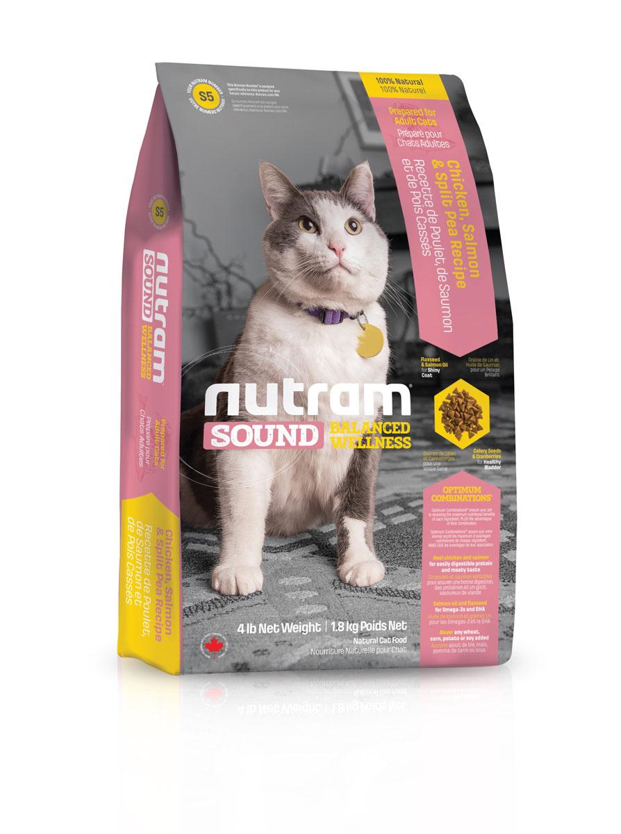 Сухой корм для взрослых кошек S5 Nutram Sound Balanced Wellness Adult\Senior Cat Food 6.8 кг пребиотический напиток viyo reinforces cat adult для взрослых кошек 7 х 30 мл