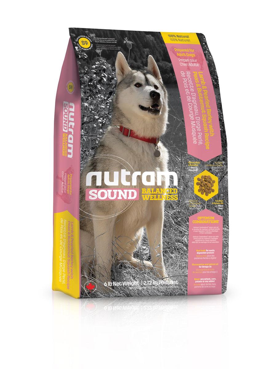 Сухой корм для взрослых собак из мяса ягненка S9 Nutram Sound Adult Dog - Lamb Recipe - 13.6 КГ83100Целостный (holistic), полезный, богатый питательными веществами сухой корм для собак, который улучшает самочувствие и здоровье питомцев по принципу «изнутри наружу»ецептура натурального сухого корма для взрослых собак S9 Nutram Sound с ягненком соответствует возрастным нормам питания для собак, установленным ассоциацией AAFCO.* Согласно рекомендациям Американской ассоциации государственного контроля за качеством кормов для животных (AAFCO) не является обязательным элементом питания собак