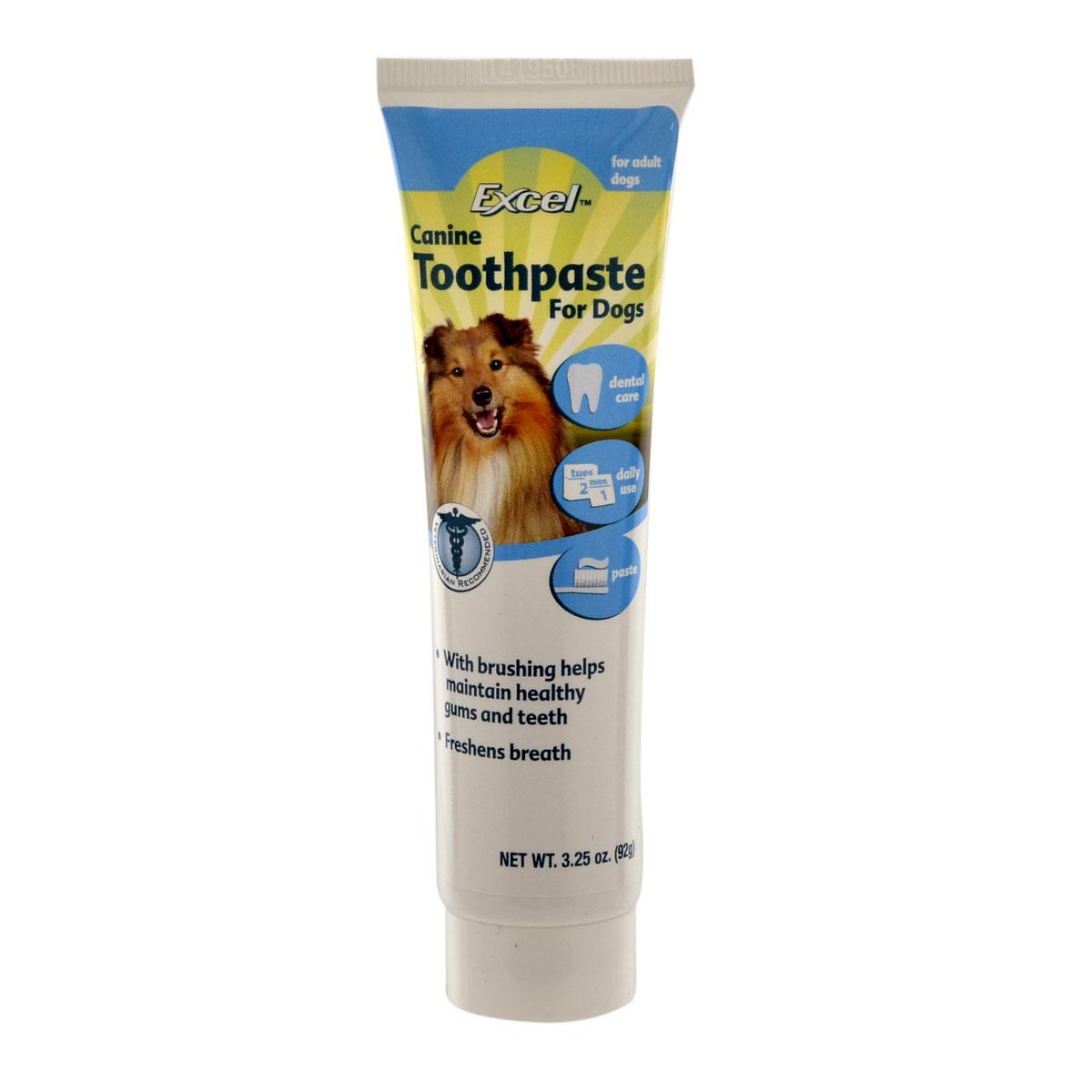 Зубная паста для собак 8 in1 Excel Canine Toothpaste, свежее дыхание, 92 г1074038Зубная паста помогает сохранить здоровье зубов и десен вашей собаки. Благодаря специальным компонентам паста очищает зубы, снимает зубной налет, уничтожает болезнетворные бактерии и убирает неприятный запах из пасти. Регулярное применение пасты предотвращает образование зубного камня.