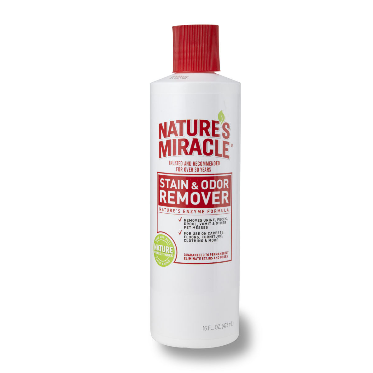 Уничтожитель пятен и запахов универсальный 8 in1 NM S&O Remover, 473 мл50512268in1 уничтожитель пятен и запахов NM S&O Remover универсальный 473 мл Универсальный уничтожитель пятен и запахов NATURE'S MIRACLE® — идеальное решение для любых загрязнений, оставленных животными. Пятна и запахи от травы, грязи, рвоты, мочи, фекалий и крови – не проблема для био-энзимной формулы Nature's Miracle. Универсальный уничтожитель пятен и запахов эффективно устраняет все органические пятна и запахи, оставляя легкий аромат чистоты. Средство можно использовать на коврах, твердых поверхностях, тканях, на переносках и спальных местах животного, оно идеально для пятен и запахов, оставленных собаками и другими животными.Как работает: Универсальный уничтожитель пятен и запахов Nature's Miracle быстро начинает работать, чтобы устранить трудно-выводимые пятна и неприятные запахи. Наша био-энзимная формула вступает во взаимодействие с органическими загрязнениями и полностью удаляет пятна и запахи, в отличие от других средств, которые могут только маскировать их. Из-за особенностей этого взаимодействия Универсальному уничтожителю пятен и запахов Nature's Miracle требуется высохнуть естественным путем, что может занять до двух недель, т.к. средству нужно проникнуть на всю глубину загрязнения, включая подкладку ковра и обивку мягкой мебели.1). Перед использованием протестируйте поверхность на цветоустойчивость на незаметном участке. Нанесите средство, подождите 5 минут и вытрите поверхность тканью. Если область изменила цвет, не применяйте Универсальный уничтожитель пятен и запахов на этой поверхности. 2). Всегда используйте Универсальный уничтожитель пятен и запахов в исходной концентрации. 3). Всегда изначально используйте Универсальный уничтожитель пятен и запахов, т.к. другие средства могут не справиться и химически закрепить пятна, после чего их будет невозможно удалить. ВЫВЕДЕНИЕ ПЯТЕН: 1). Вытрите пятно, насколько это возможно, затем полностью замочите его в Универсальном уничтожителе п