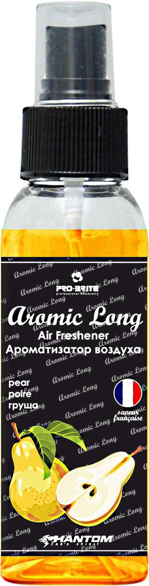 Ароматизатор воздуха автомобильный Phantom Aromic Long, груша, спрей 100 млРН4048Автомобильный ароматизатор воздуха Phantom Aromic Long изготовлен на основе натуральных отдушек с насыщенным фруктовым ароматом. Применим в любых помещениях и салонах автомобилей. Нейтрализует неприятные запахи и придает воздуху свежесть.