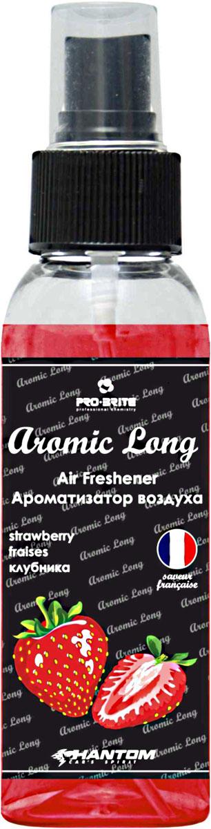 Ароматизатор воздуха автомобильный Phantom Aromic Long, клубника, спрей 100 млРН4043Автомобильный ароматизатор воздуха Phantom Aromic Long изготовлен на основе натуральных отдушек с насыщенным фруктовым ароматом. Применим в салонах автомобилей. Нейтрализует неприятные запахи и придает воздуху свежесть.