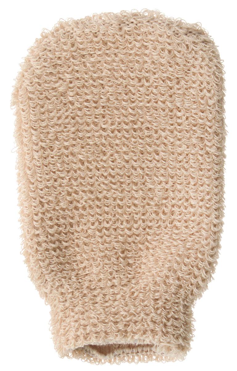 Мочалка-рукавица массажная Riffi, для мужчин, коричневый