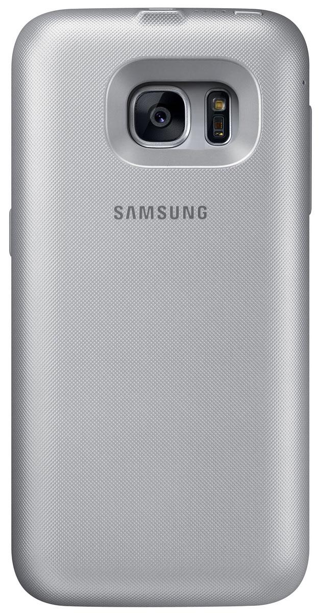 Samsung EP-TG930 Backpack чехол-аккумулятор для Galaxy S7, SilverEP-TG930BSRGRUSamsung EP-TG930 Backpack - это беспроводной чехол-аккумулятор, который продлит жизнь вашему смартфону. В дороге или путешествии - ваш девайс всегда работоспособен. Делайте фото, слушайте музыку и оставайтесь на связи с близкими людьми! Для начала зарядки не нужно подключать провода - просто наденьте чехол на ваш смартфон Galaxy S7. Индикатор питания на корпусе аккумулятора показывает уровень заряда.