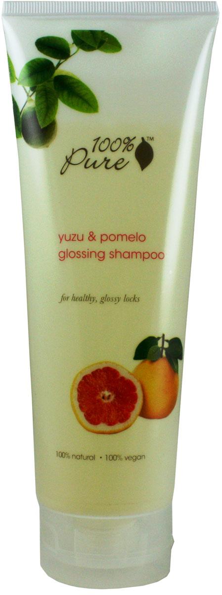 100% Pure Шампунь для блеска волос Юзу и Помело, 236 мл1HCSYPG8ozЮзу и Помело - шампунь, который придаст блеск и сияние волосам. Увлажняющие, супер мягкие шампуни нежно очищают кожу головы и придают волосам блеск, упругость и силу! Укрепляют волосы, делают их более сильными и здоровыми! Не содержат синтетических химических веществ, искусственных красителей, химических консервантов, сульфатов. Уважаемые клиенты!Обращаем ваше внимание на возможные изменения в дизайне упаковки. Качественные характеристики товара остаются неизменными. Поставка осуществляется в зависимости от наличия на складе.