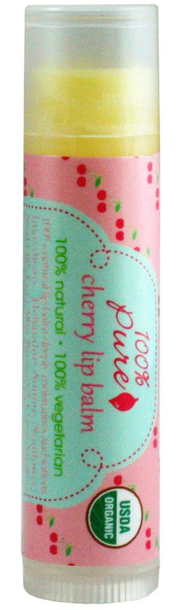 100% Pure Бальзам для губ Вишня (USDA Organic) 4,25 г carmex бальзам для губ вишня cherry twist бальзам для губ вишня cherry twist 1 шт