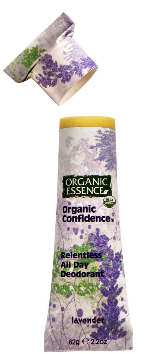 Organic Essence Органический дезодорант, Лаванда 62 гDCLAVДезодорант Organic Essence - это уникальный и эффективный продукт. Органическое кокососвое масло одновременно борется с бактериями и смягчает кожу подмышек. Пищевая сода также нейтрализует бактерии, вызывающие неприятный запах и обеспечивает длительную работу дезодоранта в течение всего дня. Упаковка из картона полностью компостируется. Не содержат: ГМО, наночастицы, парабены, пропиленгликоль, синтетических красителей, ароматизаторов, алюминия, EDTA, триклозан и другие токсичные вещества. USDA сертифицированный органический продукт.