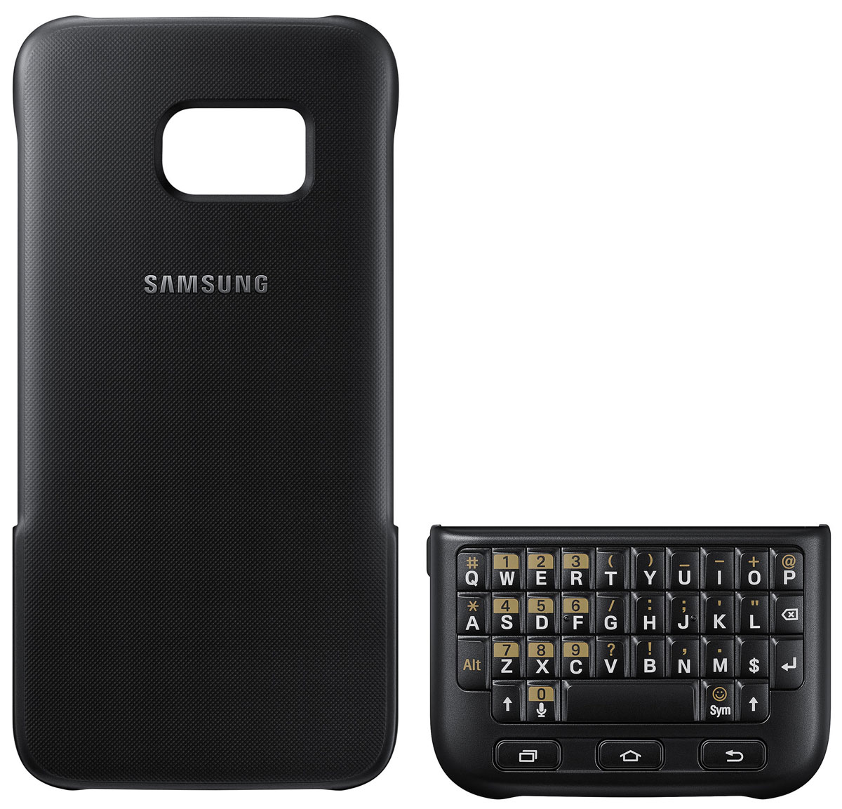 все цены на Samsung EJ-CG930 Keyboard Cover чехол-клавиатура для Galaxy S7, Black онлайн