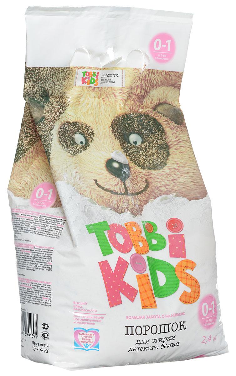 Tobbi Kids Стиральный порошок для детского белья от 0 до 12 месяцев 2,4 кг891691Стиральный порошок для детского белья Tobbi Kids изготовлен из натурального мыла, отлично справляющегося со следами от пюре и соков.Дети в возрасте от 0 до 12 месяцев имеют pH кожи, отличный от pH кожи детей старше года и взрослых, и их иммунная система особенно уязвима, именно поэтому малыши весьма чувствительны к аллергенам и активным веществам в составе стирального порошка. В этот период важно выбирать самые безопасные средства, ведь малышам не подходят взрослые порошки. Формула Tobbi Kids разработана с учетом рекомендаций педиатров, ее pH соответствует pH кожи ребенку до года, а безопасные активные компоненты отлично отстирывают все загрязнения и ухаживают за вещами малыша.Предназначен для стирки детского белья из хлопчатобумажных, льняных и смешанных тканей в стиральных машинах любого типа. Допускается применение для ручной стирки.Состав: мыло хозяйственное, неионогенное поверхностно-активное вещество, натрия перкарбонат, натрий триполифосфат, сода кальцинированная, натрий карбоксиметилцеллюлоза, усилитель отбеливателя, акремон B1, натрий сернокислый.