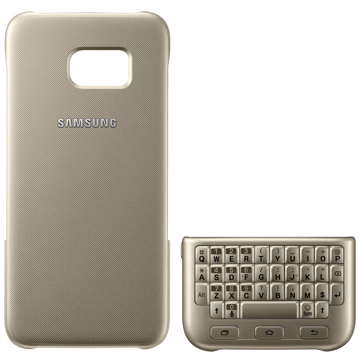 Samsung EJ-CG935 Keyboard Cover чехол-клавиатура для Galaxy S7 Edge, Gold чехол для смартфона samsung для galaxy s6 edge plus keyboard cover s6 edge черный ej cg928rbegru ej cg928rbegru