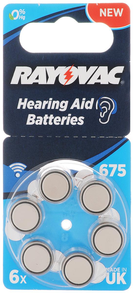 Батарейка для слуховых аппаратов Varta Rayovac 675, тип PR44, 1,45В, 6 шт675_6 штБатарейки Varta Rayovac 675 обеспечат идеальную работу слуховых аппаратов. Длительное время работы при высоких уровнях напряжения - преимущество этой специальной линейки. Не содержат ртути. Размер батареек: 1,1 х 1,1 х 0,5 см. Электрохимическая схема: оксид цинка (ZN/O2). Мощность 640 mAh. Форм-фактор: PR44.Вес: 1,8 г.